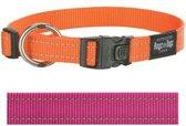 Rogz For Dogs Fanbelt Hondenhalsband - 20 mm x 34-56 cm - Roze