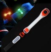LED Sport/Hardloopband Oranje waterbestendig