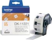 Label etiket brother dk-11221 23 mm x 23 mm wit