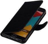 Zwart Smartphone TPU Booktype Samsung Galaxy A5 2016 Wallet Cover Hoesje