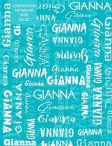 Gianna Composition Notebook Wide Ruled