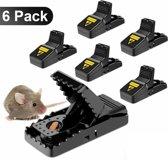 Muizenval - 6 stuks - Rattenval | Herbruikbaar | Professioneel | Veilig in gebruik| Duurzaam | Hygiënisch | Snelle dood | Muizenvallen set
