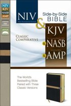 NIV, KJV, NASB, Amplified, Classic Comparative Parallel Bible, Leathersoft, Black/Tan