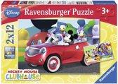 Ravensburger puzzel 2x 12st. Mickey Mouse