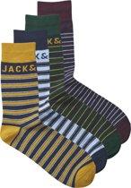 JACK&JONES Heren Sokken 4-pack - Cerulean - Maat ONE SIZE