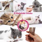 Make Me Purr Matatabi Kattenkruid Stokjes (5 stuks) voor Katten - 100% Biologische Catnip Kruiden Kauwstokjes - Silver Vine Sticks - Kattensnacks - Interactief Kattenspeelgoed - Gezonde Kitten Snacks Speeltjes - Grumpy Happy Cat Toys