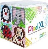 Pixel XL - Kubus set dieren (pinguin, olifant, hond)