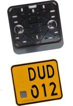 Kentekenplaathouder Scooter ZWART ABS voor kentekenplaat 145x125mm NEDERLAND