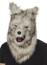 St. Hoofdmasker Weerwolf deluxe met haar en beweegbare kaak