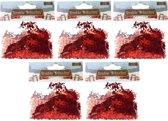 Confetti rode engeltjes 75 gram - Kerstversieringen engel confetti rood