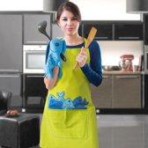 Keukenschort en ovenwant met visprint
