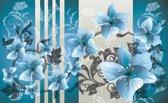 Blue   Gray Photomural, wallcovering