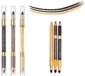 Physicians Formula Shimmer Strips Shimmer Pencil + Smudger Trio - Gold Eyes