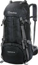 Beefree 70 Liter nylon Backpack Zwart | Inclusief regenhoes