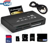 Geheugenkaartlezer - All in one kaartlezer - Memorycard reader - CF/TF/MS/M2 - (Micro) SD kaart