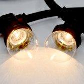 Prikkabel set met LED lampen, 20 meter met 40 fittingen - 1 watt filament lampjes 2700K
