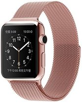 Bandje voor Apple Watch - Milanees 38mm Rose Goud - Milanese Loop Band 38mm Roestvrijstaal Black- RVS Armband Rose  Gold  voor iWatch 38mm- Magneetsluiting Voor Apple Watch