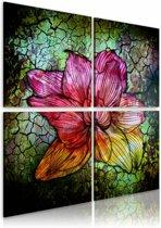 Schilderij - Glas bloem