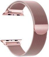 Apple Watch Series 5 (40 mm) Bandje - Milanees Bandje met Magneetsluiting - iCall - Roségoud