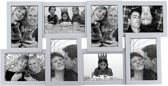 Pt, Fotolijst Collection Wood - Zilver - Fotomaat 10x15 cm