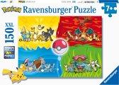 Ravensburger Verschillende Pokémons puzzel - legpuzzel - 150 stukjes