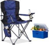 relaxdays - campingstoel opvouwbaar - tuinstoel met armleuning en rugleuning