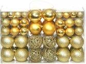 vidaXL Kerstballenset 6 cm goud 100-delig