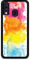 Galaxy A40 Hardcase hoesje Color Splatters