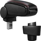 Armsteun - Renault Captur - kunstleer - zwart, rood stiksel
