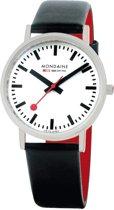 Mondaine A660.30314.16SBB horloge dames en heren - zwart - edelstaal