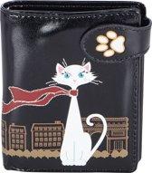 SHAGWEAR portemonnee Travelling cat zwart - 0958sm