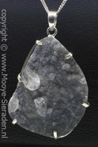 Zilveren Kristallen edelsteen ketting hanger