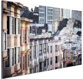 Details gebouwen San Francisco Aluminium 60x40 cm - Foto print op Aluminium (metaal wanddecoratie)