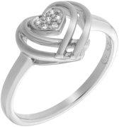 Orphelia ZR-7368/50 - Ring Heart - Zilver 925 - Zirkonia - Maat 50