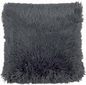 Kussenhoes Fluffy 45x45 cm donkergrijs