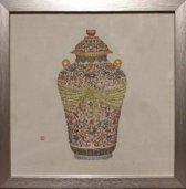 Fine Asianliving Schilderij Chinese Pot