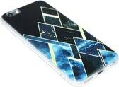 Geometrisch vormen hoesje zwart iPhone 6 (S) Plus