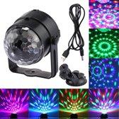 3W RGB Magic Ball fase LED licht  USB Sound Control roterende Disco DJ licht  DC 5V