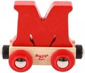 Bigjigs - Rails - Naamtrein - Letter M - Oranje
