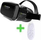 VR SHINECON VR Bril - Black + Bluetooth Gamepad en Remote Control - White