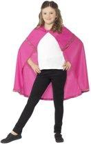 Roze prinsessen cape voor meisjes - maat 146 - 158