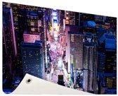 Times Square nachtlichten Tuinposter 200x100 cm - Tuindoek / Buitencanvas / Schilderijen voor buiten (tuin decoratie) XXL / Groot formaat!