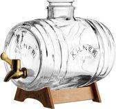 Kilner drankdispenser Barrel - met koperkleurig kraantje en staander -3.5L