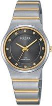 Pulsar PH8171X1 horloge dames - zilver en goud - edelstaal