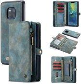 CASEME Huawei Mate 20 Pro Luxe Lederen Portemonnee Hoesje - met backcover (Groen)