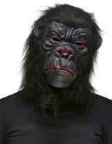Zwart gorilla masker voor volwassenen  - Verkleedmasker - One size