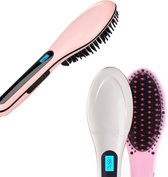 Stijlborstel Perfect hair straightener brush Roze - Stijlborstel Straight brush