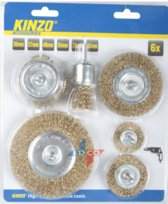 Kinzo staalborstel set 6 delig