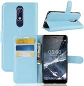 Book Case Nokia 5.1 Hoesje - Lichtblauw