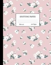 Knitting Paper: Graph Notebook and Journal for Patterns - 4:5 Ratio - 100 pages - Letter Format 8.5''x11'' - Cover Design Code 00048